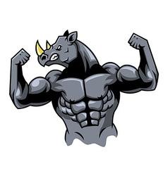 Muscular Rhino vector image