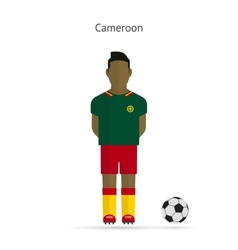 National football player Cameroon soccer team vector