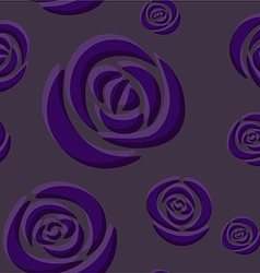 Pattern of dark purple roses vector