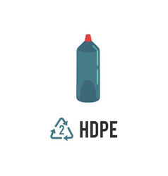 Plastic recycling icon symbol and sign hdpe pehd vector