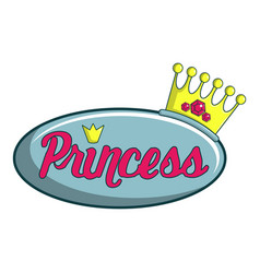 princess show icon cartoon style vector image