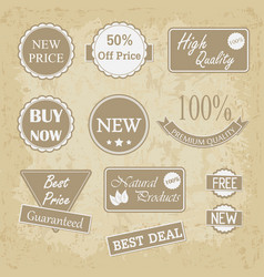 quality vintage badges collection vector image