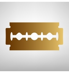 Razor blade sign Flat style icon vector image