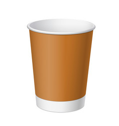 realistic white disposable paper cup vector image