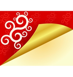 red background with swirls vector image