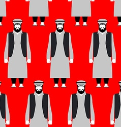 Refugees seamless pattern Sad people on red vector