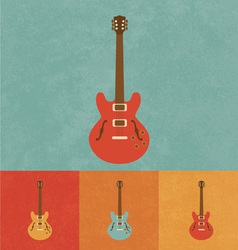 Retro Electric Guitar vector image vector image