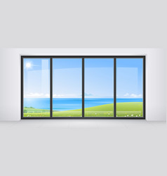 room with panoramic window vector image