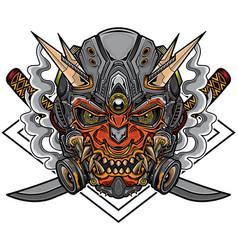 samurai robot vector image
