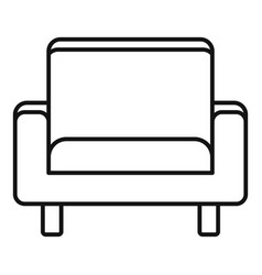 Seat armchair icon outline style vector