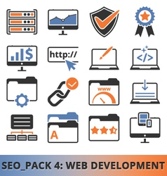 Seo Web Development pack vector