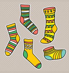 Set bright socks vector