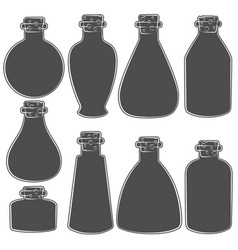 set with the image of the vials tubes vector image