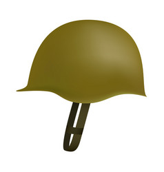 Side of army helmet mockup realistic style vector
