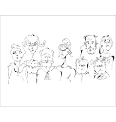 Sketch Of A Family vector image vector image