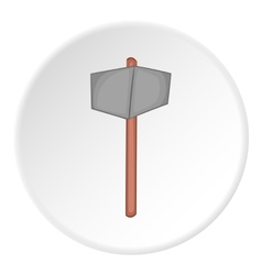 Sledgehammer icon cartoon style vector