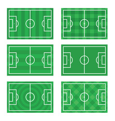 Soccer european football field in top view vector