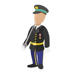 Soldier cartoon icon vector