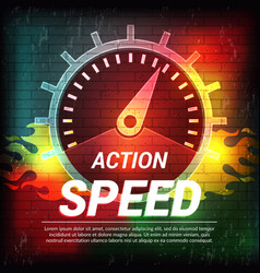 Speed poster abstract driving concept sport vector