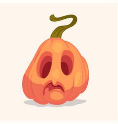 spooky halloween pumpkin vector image