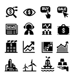 Stock market icon set vector