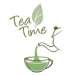 Tea time resize vector image