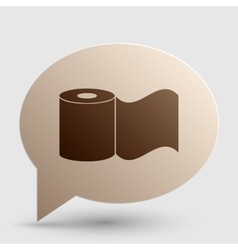 Toilet Paper sign Brown gradient icon on bubble vector