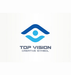 top vision man eye creative symbol concept vector image
