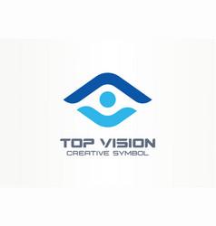 Top vision man eye creative symbol concept vector