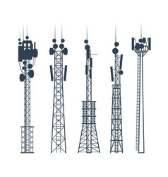 Transmission cellular towers satellite vector