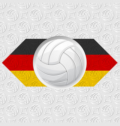 volleyball germany background vector image