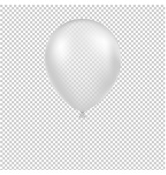 white balloon isolated vector image
