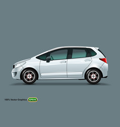 White car mock up isolated on grey background vector