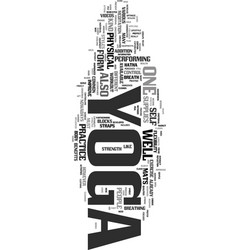 Yoga supplies text word cloud concept vector