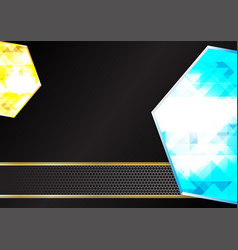blue and yellow diamond geometric backgrounds vector image