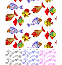 fish seamless vector image vector image