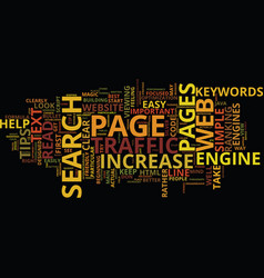 four tips to increase traffic to your website vector image