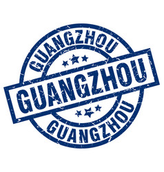 Guangzhou blue round grunge stamp vector