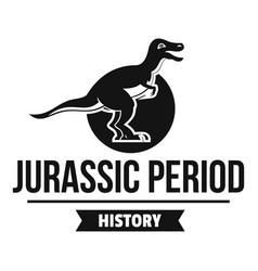 Jurassic monster logo simple black style vector