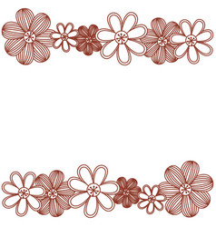 minimalistic background with flowers in row both vector image vector image