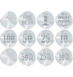 silver award or icon vector image vector image