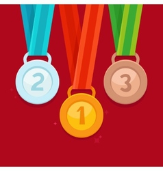 three winning places concept vector image vector image