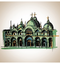 Venice church vector image