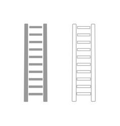wooden step ladder the grey set icon vector image vector image