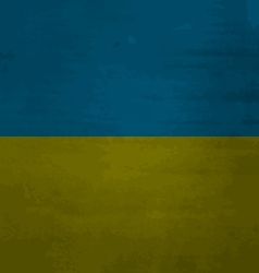 Grunge messy flag Ukraine vector image vector image