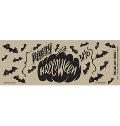 Halloween banner party vector image