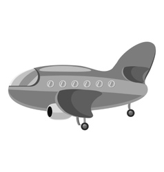 Airplane icon gray monochrome style vector image vector image