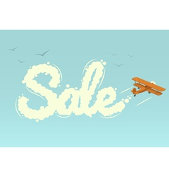 Biplane with word Sale vector image vector image