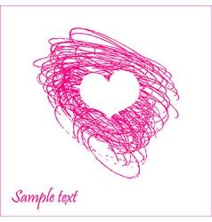 Doodle heart vector image vector image