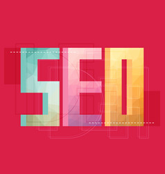 flat design modern concept of seo word vector image vector image